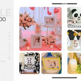 Sinh nhật trọn gói SIMPLE giá rẻ khiến khách hàng hài lòng chỉ với 3tr