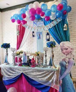 Bàn quà sinh nhật cùng phụ kiện trang trí chủ đề Frozen XV266