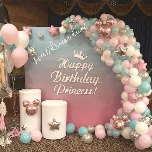 Backdrop trang trí sinh nhật cho bé gái XV261