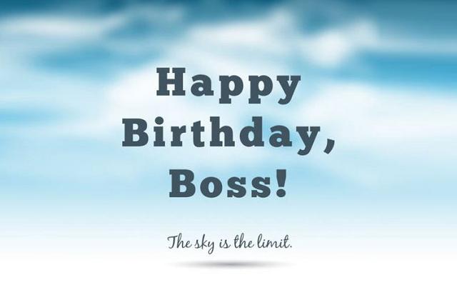 Lời chúc mừng sinh nhật sếp tiếng Anh ý nghĩa