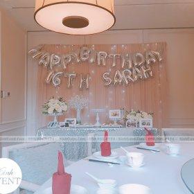 Tổ chức sinh nhật 16 tuổi cho con gái Sarah tại nhà hàng (Giá 5tr2)