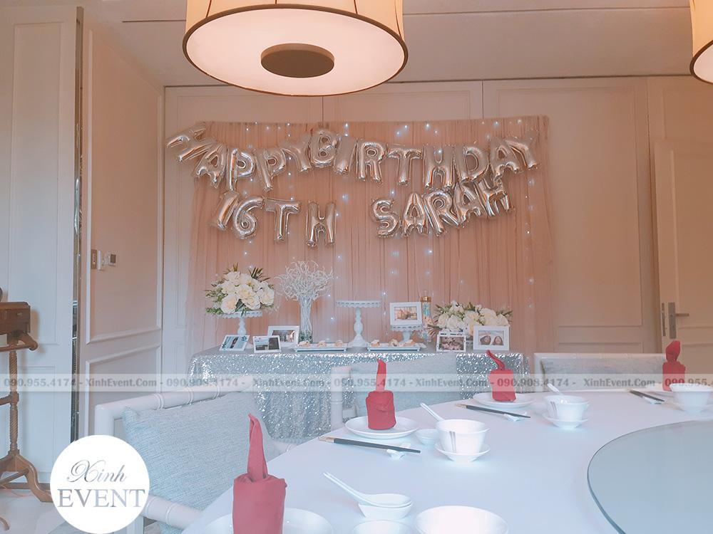 Tổ chức sinh nhật tại nhà Hàng Yu Chu