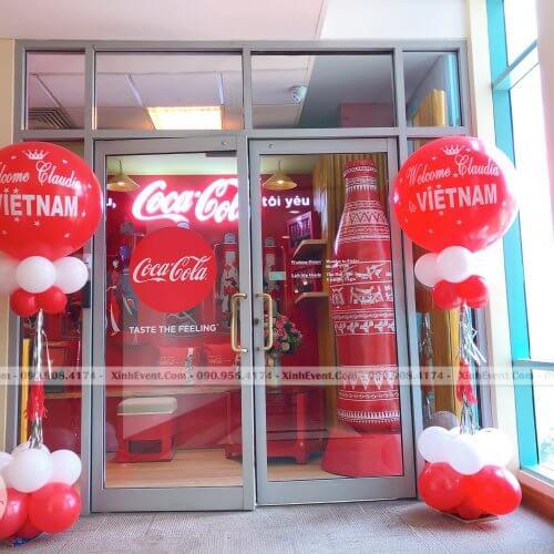 Trụ bong bóng trang trí sự kiện CocaCola XV269.