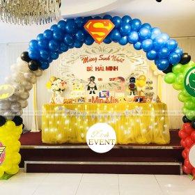 Trang trí sinh nhật cho bé Hải Minh 3 tuổi trọn gói tại Xinhevent