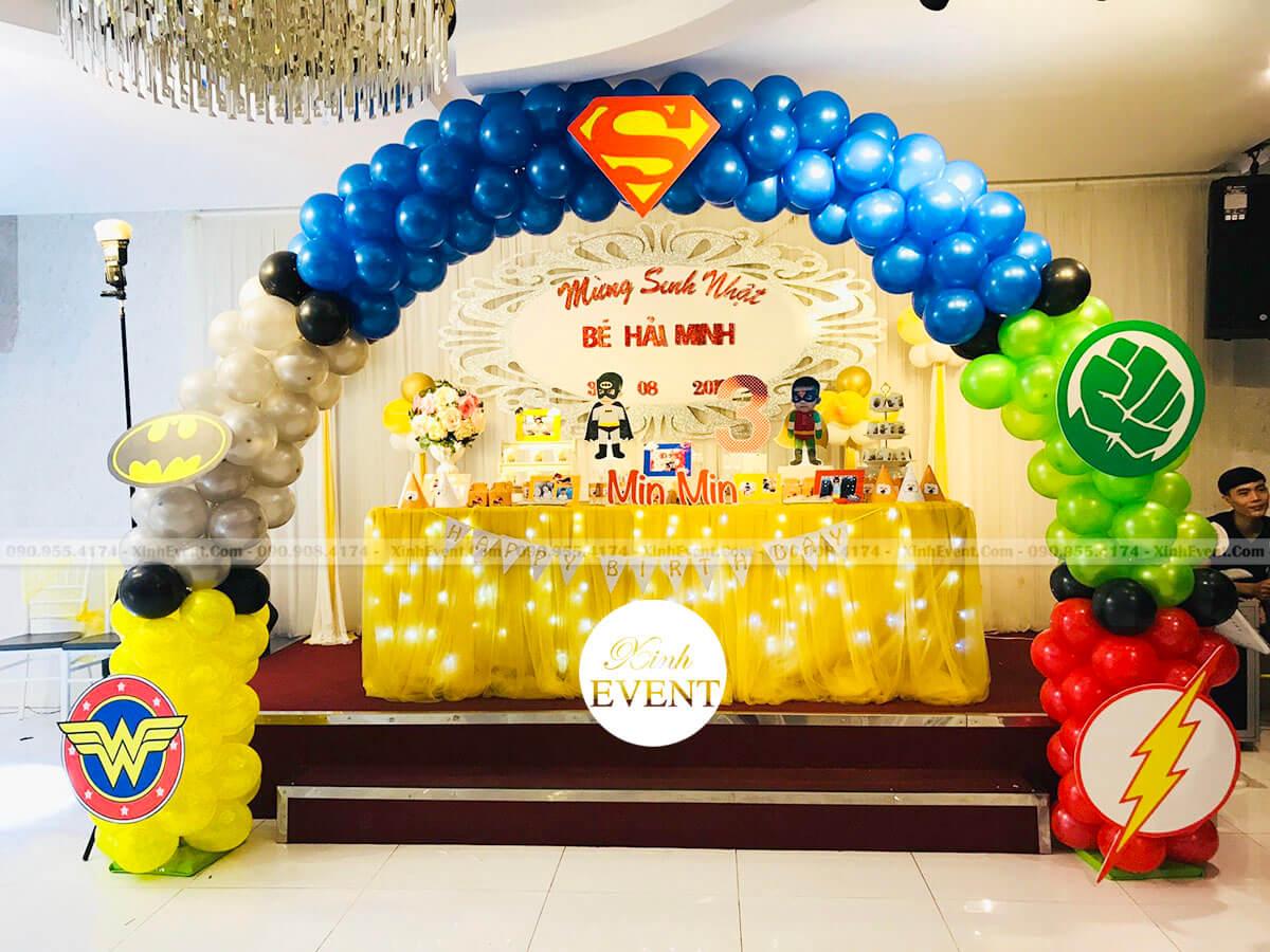 Trang trí sinh nhật cho bé Hải Minh 3 tuổi trọn gói