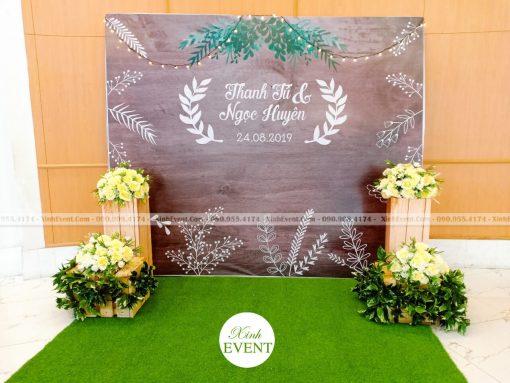 Backdrop tiệc cưới Thanh Tú - Ngọc Huyên XV282