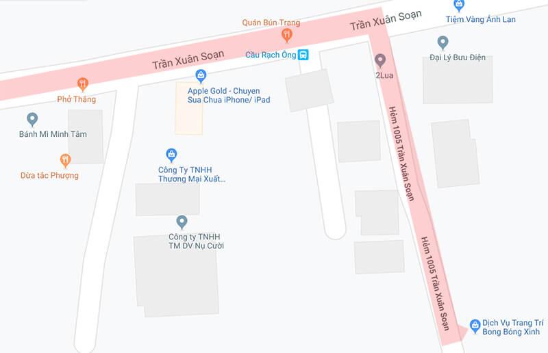 Bản đồ dịch vụ sự kiện Xinh Event