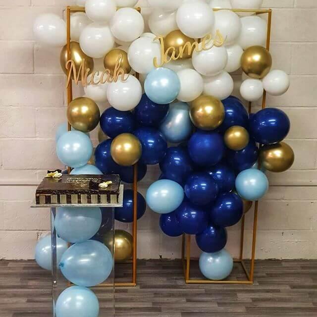 Trang trí tiểu cảnh sinh nhật xanh dương XV275