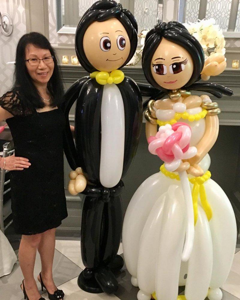 Bóng tạo hình trang trí tiệc cưới XV304