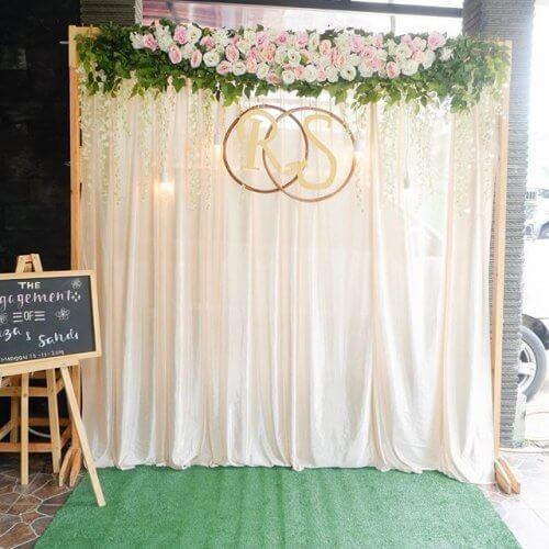 Backdrop cưới đơn giản tại nhà XV328