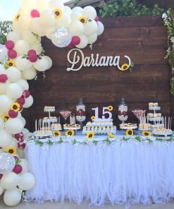 Backdrop trang trí sinh nhật Rustic cho các bé tuổi teen XV298