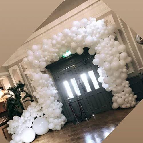 Cổng chào bong bóng trắng XV303