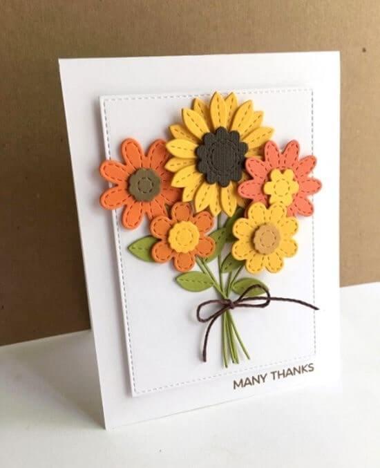 Mẫu trang trí thiệp 20-10 bằng hoa xốp