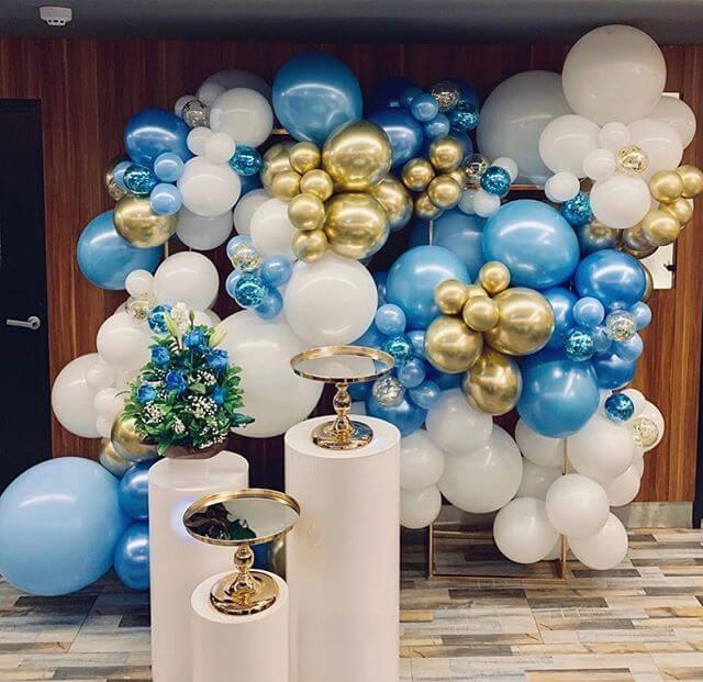 Tường bong bóng sang trọng trang trí sinh nhật người lớn XV312