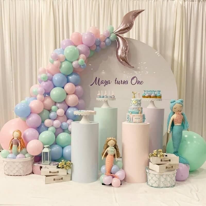 Trang trí bàn sinh nhật nàng tiên cá XV308