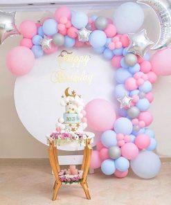 Trang trí backdrop sinh nhật bong bóng cho bạn gái XV313