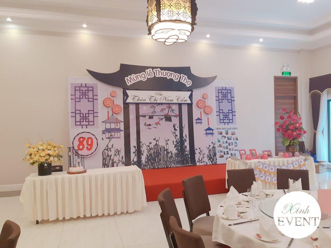Backdrop sinh nhật trang trí phong cách Trung Hoa XV334