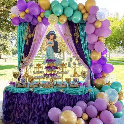 Trang trí bàn sinh nhật công chúa Jasmine XV345