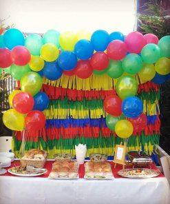 Trang trí bàn sinh nhật bé trai ngoài trời XV349