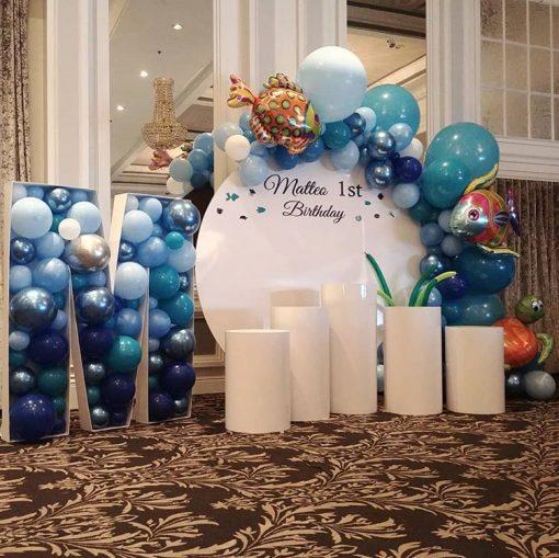 Trang trí sinh nhật trọn gói đại dương XV394