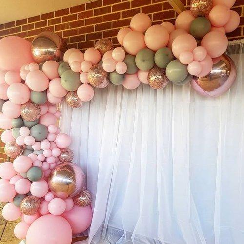 Backdrop trang trí sinh nhật bé gái tại nhà XV392