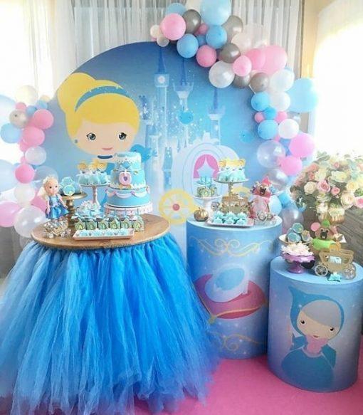 Trang trí bàn quà sinh nhật Lọ Lem XV376