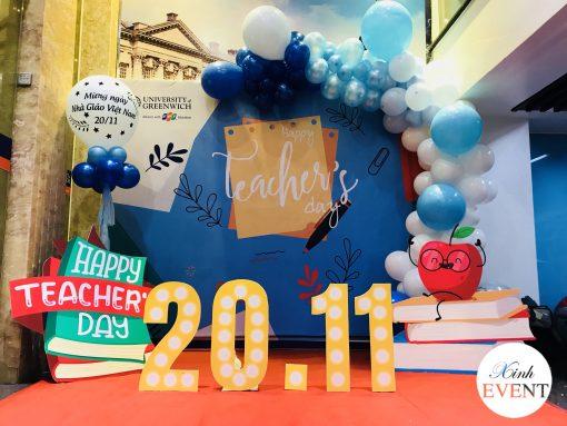 Backdrop sự kiện 20-11 chào mừng ngày nhà giáo Việt Nam XV386