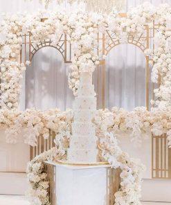 Tiểu cảnh trang trí tiệc cưới màu trắng XV355