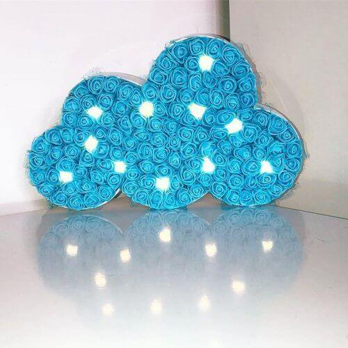 Phụ kiện trang trí sinh nhật bằng hoa giấy xanh dương XV357
