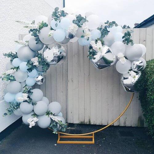 Khung bong bóng bạc trang trí sinh nhật người lớn XV364