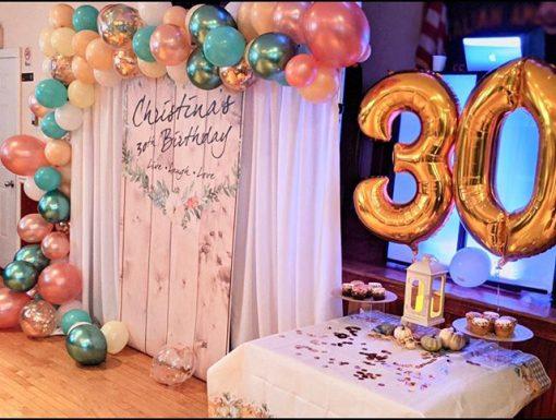 Trang trí sinh nhật chủ đề giáng sinh XV382