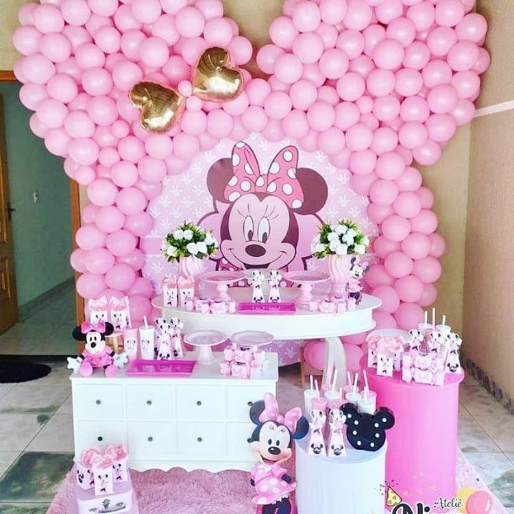 Trang trí bàn quà sinh nhật chuột Minnie XV415