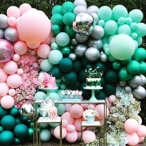 Trang trí tiểu cảnh sinh nhật bong bóng XV467