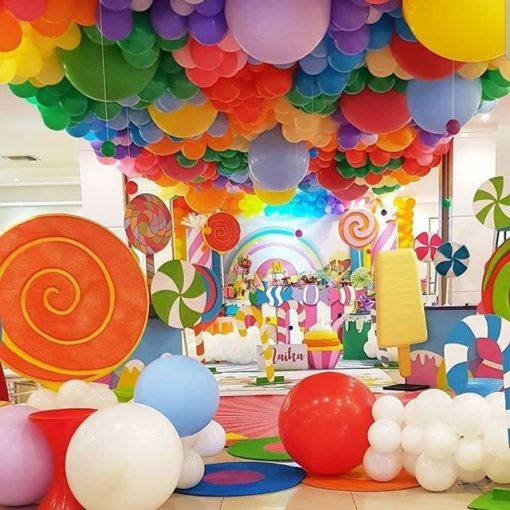 Tiểu cảnh sinh nhật bong bóng vương quốc kẹo XV472