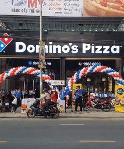Cổng chào sự kiện kép trang trí Domino Pizza XV529