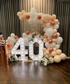 Trang trí sinh nhật người lớn bộ tiểu cảnh bong bóng 3D XV534