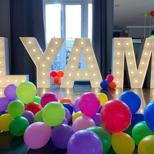 Bộ chữ 3D trang trí sinh nhật cho các bé XV522