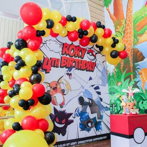 Backdrop sinh nhat trang trí pokemon XV466