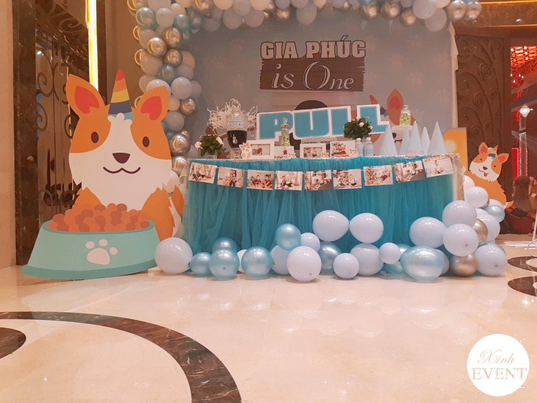 Trang trí sinh nhật trọn gói cún con XV474 góc nhìn 1