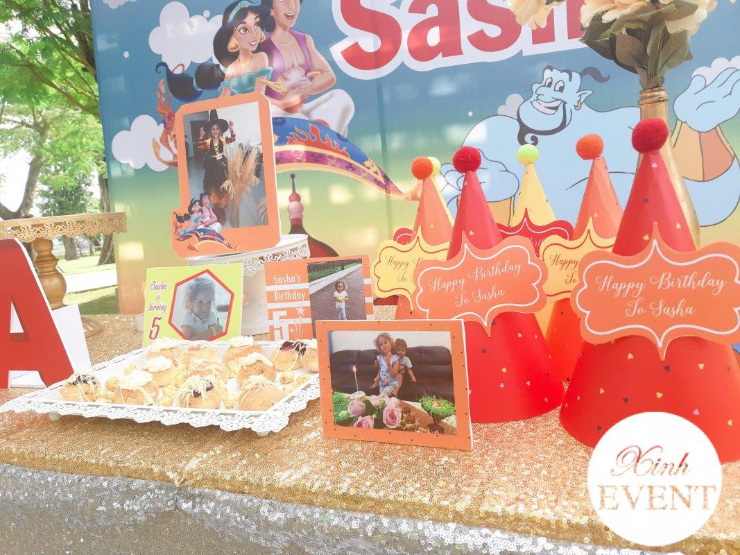 Phụ kiện bàn quà sinh nhật Alladin và cây đèn thần XV3431