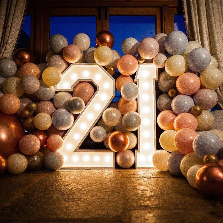 Tiểu cảnh bong bóng cùng chữ số 3D khi lên đèn XV451