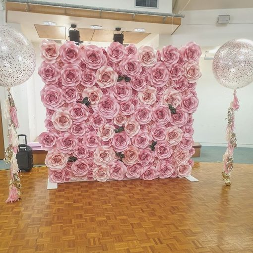 Backdrop hoa giấy trang trí tiệc cưới XV424
