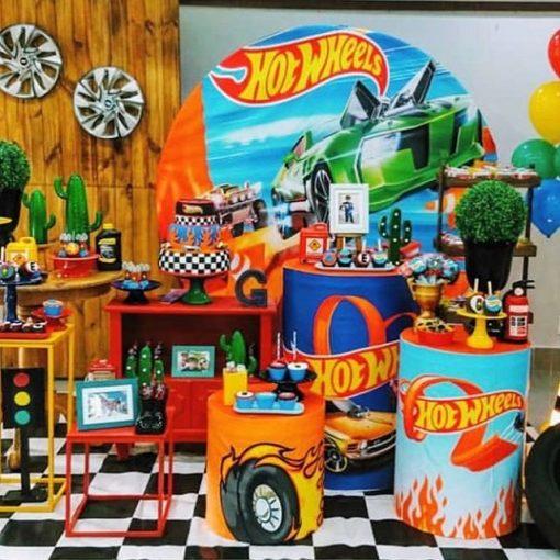 Trang trí bàn quà sinh nhật Hotwheel XV430