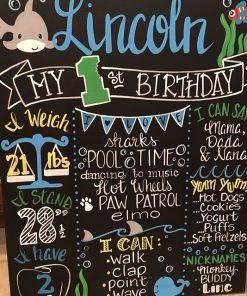 Chalkboard trang trí sinh nhật Babyshark XV433
