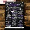 Chalkboard sinh nhật cho đêm giáng sinh XV437