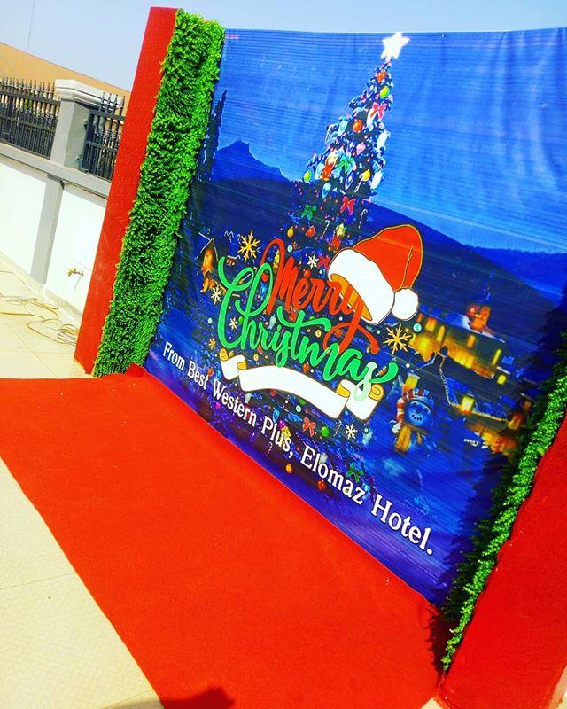 Backdrop giáng sinh cùng thảm đỏ XV455