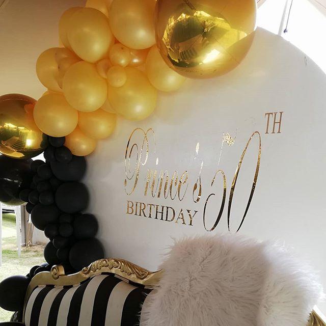Backdrop bong bóng trang trí sinh nhật sang trọng XV506