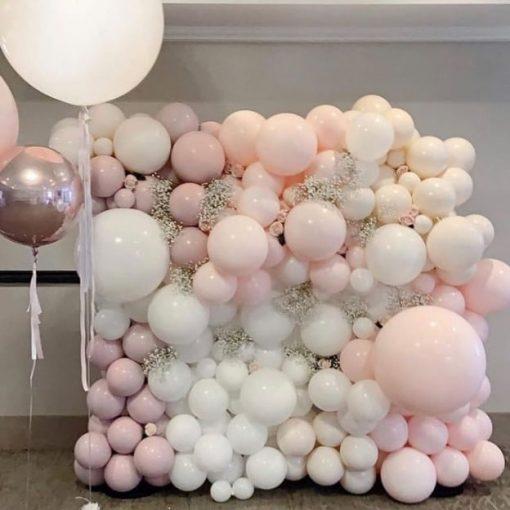 Backdrop sinh nhật bong bóng pastel XV513