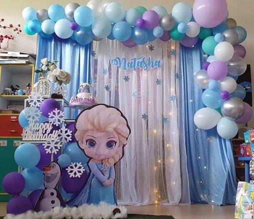 Backdrop sinh nhật vải voan Elsa XV521