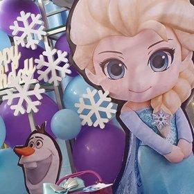 Tiểu cảnh trang trí sinh nhật Elsa XV521